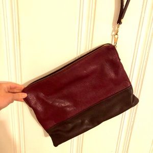 The Limited Burgandy/Wine Colored Wristlet
